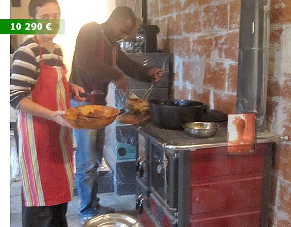 poele à air chaud et cuisisniere